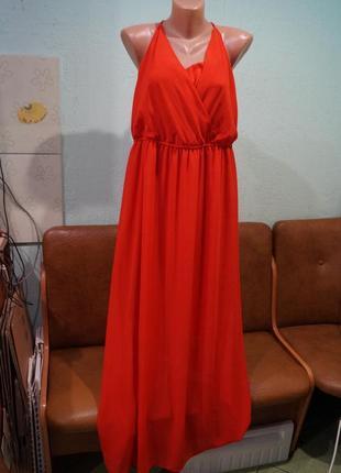 Вечернее макси платье р.44