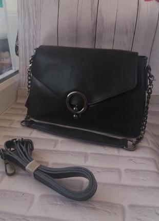 Женская кожаная сумка из натуральной кожи. кожаный клатч жіноч...