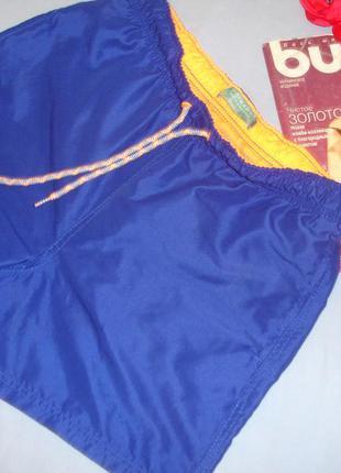Шорты мужские плавательные плавки размер s 44 синие голубые на...