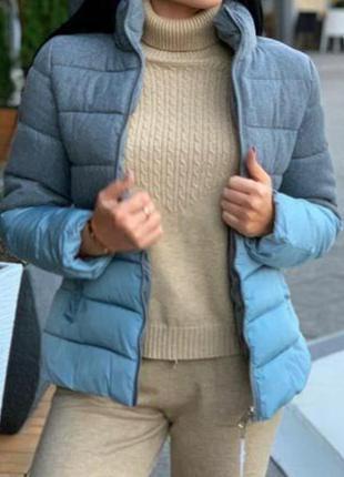 Женская комбинированная куртка теплая зима, холодная весна-осе...
