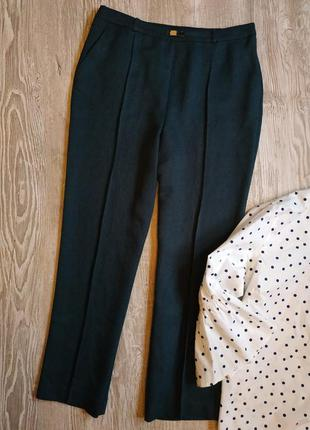 Классические брюки на резинке бутылочного цвета honor millburn...
