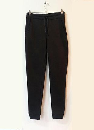Теплые спортивные штаны с высокой посадкой