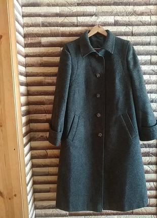 Винтажное шерстяное пальто макси