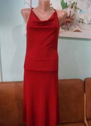 Платье с блестками р.36