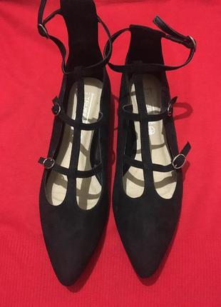 Балетки лодочки туфли замшевые