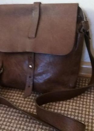 Кожаная сумка warren& parker