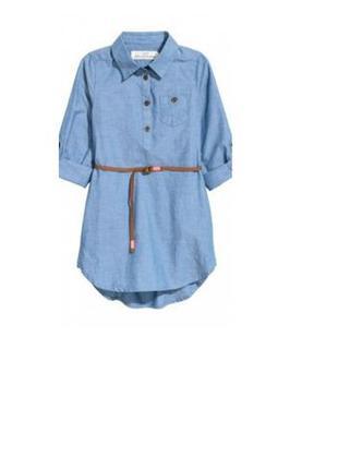 Новое платье H&M джинсовое рост 92