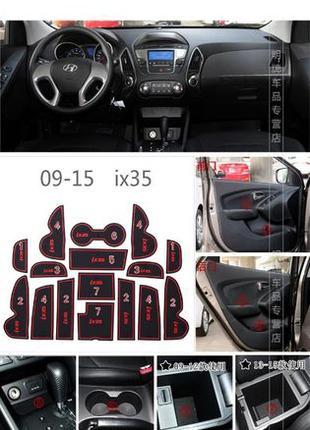 Hyundai ix35, Хюндай ix45, Туксон, Элантра, Соната коврики в с...