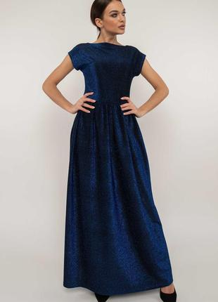 Вечернее платье 2020 темно-синее