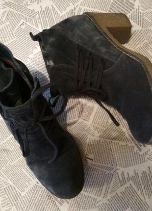 Ботинки натуральный замш 5th Avenue