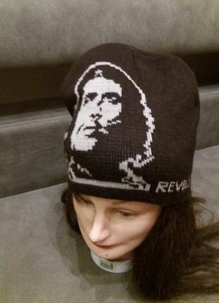 Креативная двойная вязаная шапка чегевара