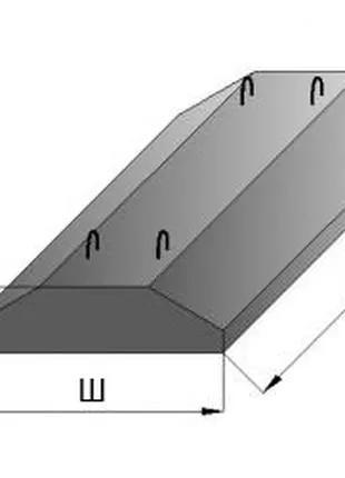 Плита ленточного фундамента ФЛ 10-8-2