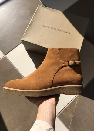 Новые, полностью натуральные замшевые ботинки, полусапожки bru...