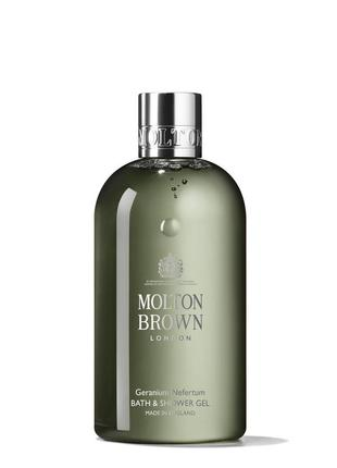 Molton brown гель для ванны и душа «герань и нефертум», 30, 50 мл