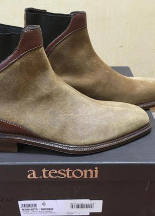 Челси a. testoni оригинал италия полуботинки ботинки 6 eu 40