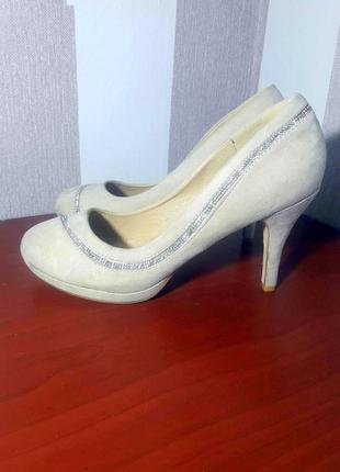 Замшевые туфли, нюдовые лодочки ikiz