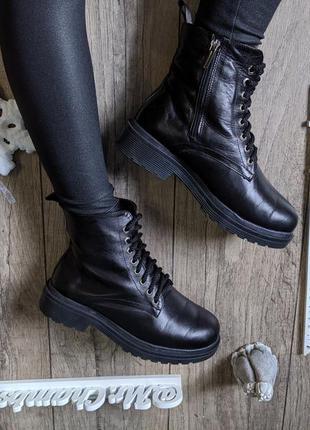 Натуральная кожа женские зимние ботинки сапоги