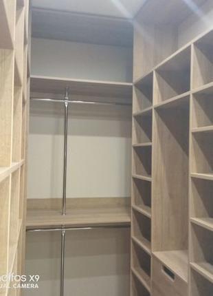 Гардеробная комната встроенный шкаф на заказ Расчет цены по те...