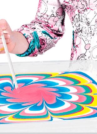 Рисование на воде Эбру, Набор Художника. Для детей от 4 до 9 лет