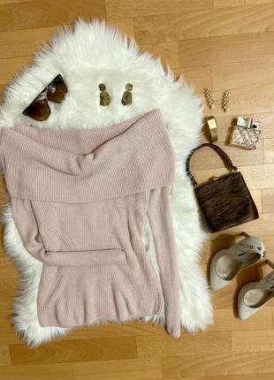 Актуальный свитер с широкой горловиной №96max