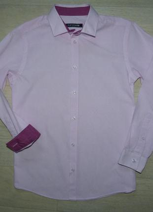 Нарядная розовая рубашка flipback 11-12 лет