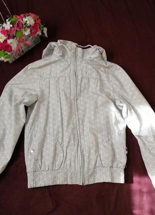 Легкая куртка, ветровка, мастерка, размер 44-46,l-xl, белая ве...