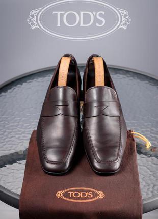 Лоферы tod's, италия 44-45р мокасины туфли