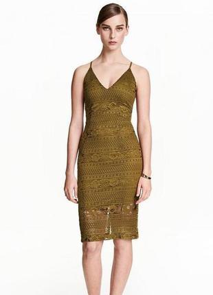 Кружевное нарядное платье h&m, р.8-10
