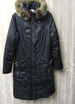 Пуховик темлое пальто