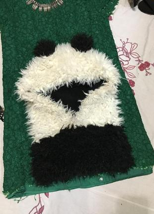 Теплый плюшевый хомут панда
