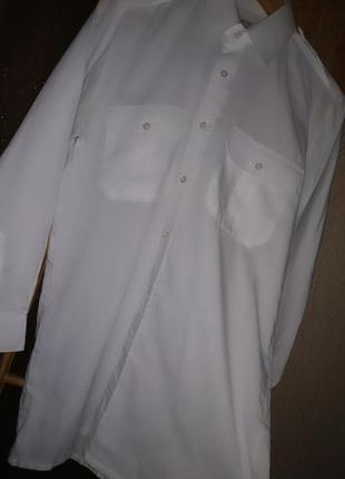 Мужская рубашка pilot белая