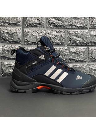 Мужские зимние ботинки из натуральной кожи/цигейки Adidas Clima!