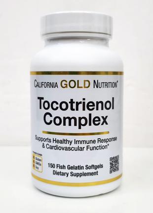 Витамин Е, комплекс токотриенолов California Gold, 150 капсул