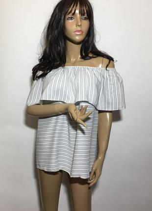 Блуза с воланами р uk-16 eur-44