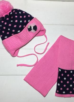 Набор шапка шарф 3-4-5 лет