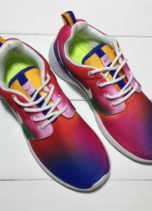 Разноцветные кроссовки nike roshe run  оригинал