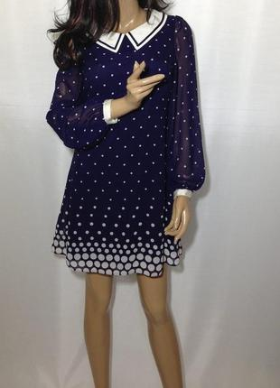 Платье в горошек р-10