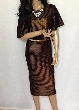 Женский костюм юбка топ р-с-м