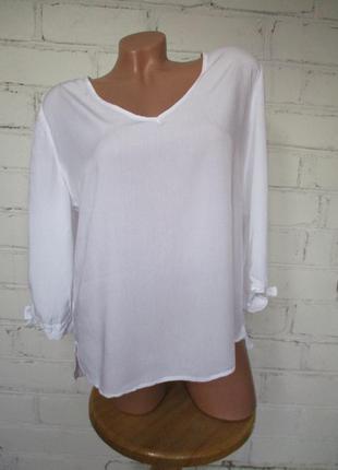 Блуза/рубашка белая вискозная/вискоза