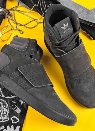 Зимние adidas tubular grey, мужские высокие кроссовки адидас с...