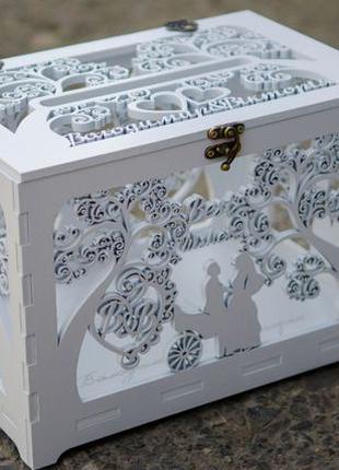 Свадебная коробка (шкатулка) для денег и конвертов