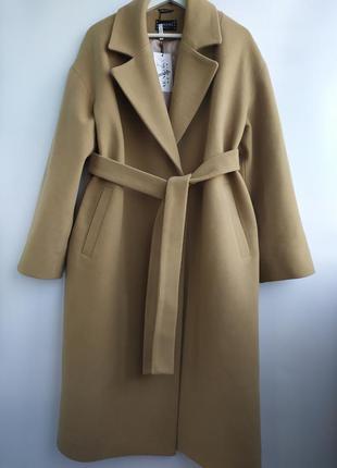 Пальто на запах, итальянская шерсть.