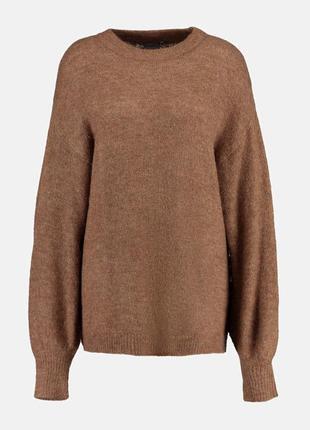 В наличии - свитер с альпакой с объемными рукавами *ichi* р. l