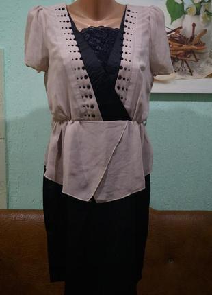 Платье с баской р.л