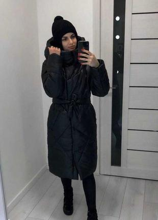 Куртка удлинённая пальто зима