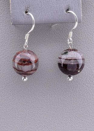 Серьги 'sunstones' фантомный кварц серебро(925) 0854910