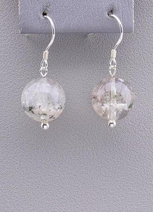 Серьги 'sunstones' фантомный кварц серебро(925) 0854950