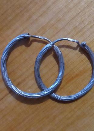 Серебро 925 проба . серьги сережки кульчики кольца.