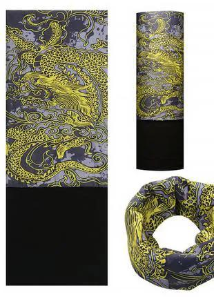 Бафф Rockbros жёлтый дракон для велосипеда велобафф шарф