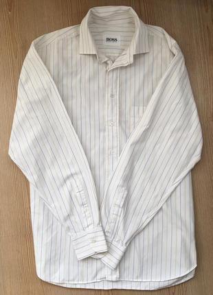 Біла сорочка в полоску hugo boss